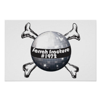 Farrah_Fracture_Poster Disco ball crossbones Posters