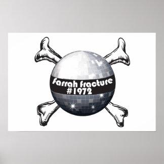 Farrah_Fracture_Poster Disco ball crossbones Poster