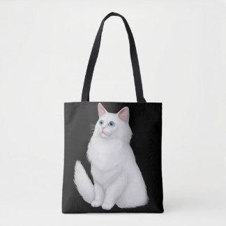 Farrah the White Persian Cat Tote Bag