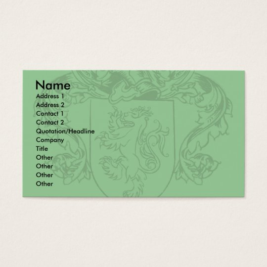 Farrell Crest Business Cards