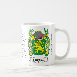 Farrell, the origin, meaning and the crest coffee mug