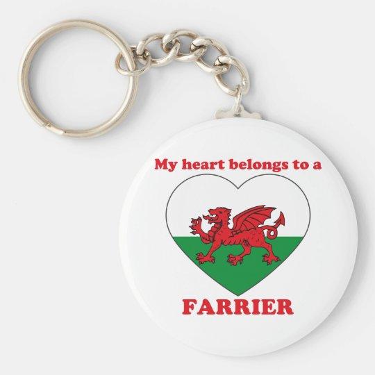 Farrier Basic Round Button Key Ring