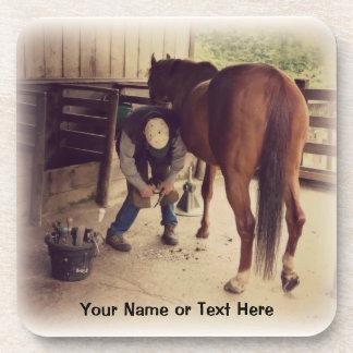 Farrier - Beautiful Horse Photo Hoof Trim Coasters