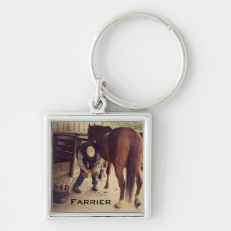 Farrier - Beautiful Horse Photo Hoof Trim Key Ring