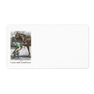 Farrier Blacksmith Shoeing Horse Shipping Label