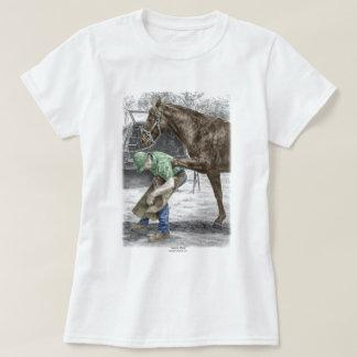 Farrier Blacksmith Shoeing Horse T-Shirt