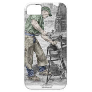 Farrier Blacksmith Using Anvil iPhone 5 Cases