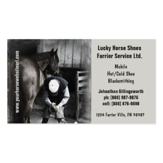 Farrier - Horseshoe Horse Hoof Services. Business Card