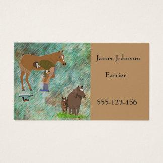 Farrier Horseshoeing Horse Business Cards