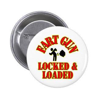 Fart Gun Locked & Loaded 6 Cm Round Badge