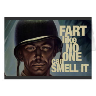 Fart like no one can smell it card