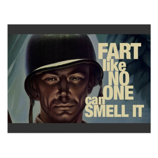 Fart like no one can smell it post card