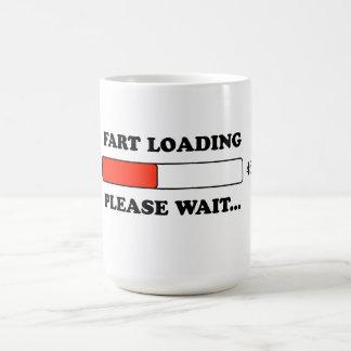Fart loading classic white coffee mug