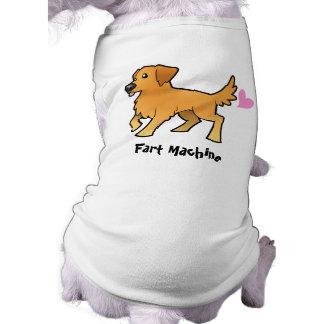 Fart Machine (golden retriever) Sleeveless Dog Shirt
