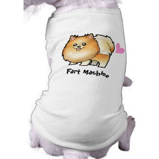 Fart Machine (pomeranian) Sleeveless Dog Shirt