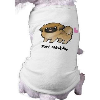 Fart Machine (puppy cut pekingese) Sleeveless Dog Shirt