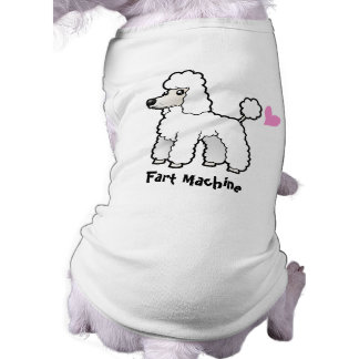 Fart Machine (puppy cut poodle) Sleeveless Dog Shirt