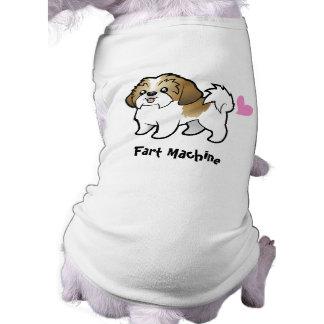 Fart Machine (shih tzu puppy cut) Sleeveless Dog Shirt