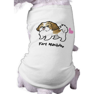 Fart Machine (shih tzu puppy cut) Sleeveless Dog Shirt