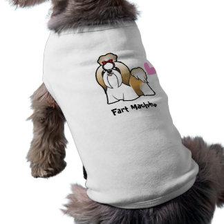 Fart Machine (shih tzu show cut) Sleeveless Dog Shirt