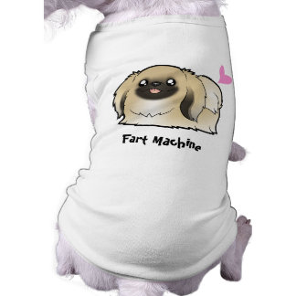 Fart Machine (show cut pekingese) Sleeveless Dog Shirt