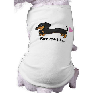 Fart Machine (smooth coat dachshund) Sleeveless Dog Shirt