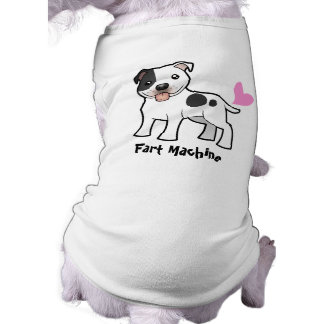 Fart Machine (Staffordshire Bull Terrier) Sleeveless Dog Shirt