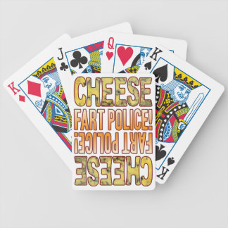 Fart Police Blue Cheese Bicycle Playing Cards