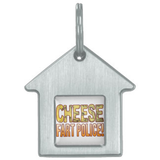Fart Police Blue Cheese Pet Name Tag