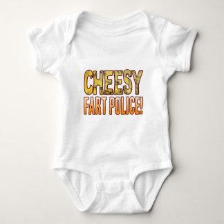 Fart Police Blue Cheesy Baby Bodysuit