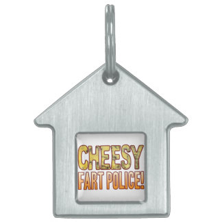 Fart Police Blue Cheesy Pet Name Tag