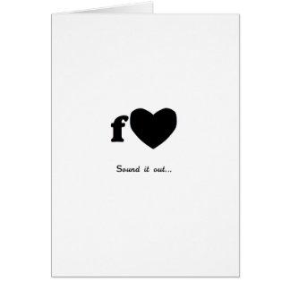 Fart Valentine Card