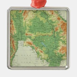 Farther India Silver-Colored Square Decoration