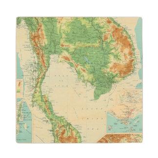 Farther India Wood Coaster