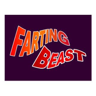 FARTING BEAST - hilarious innuendo humor Post Card