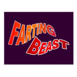 FARTING BEAST - hilarious innuendo humour Postcard