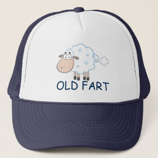 FARTING CARTOON SHEEP OLD FART HAT