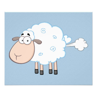 FARTING CARTOON SHEEP PHOTO PRINT