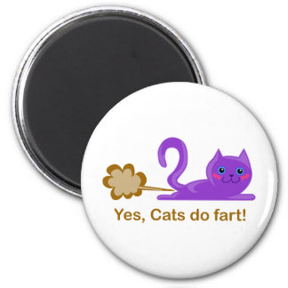 Farting cat, cat farts! magnet