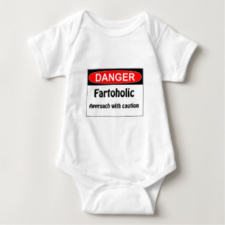 Farting Danger Fartoholic Baby Bodysuit
