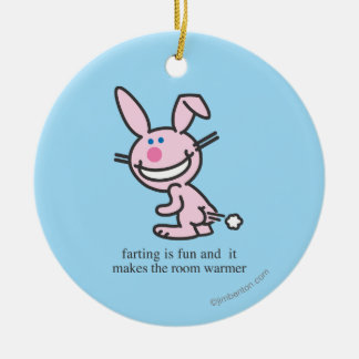 Farting is Fun Christmas Ornament