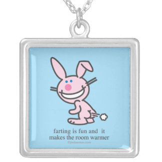 Farting is Fun Silver Plated Necklace