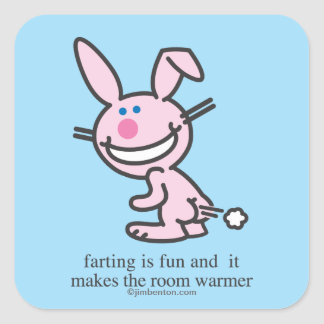 Farting is Fun Square Sticker