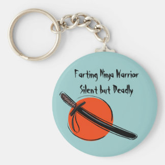 Farting Ninja Warrior Silent but Deadly Keychain