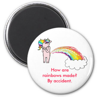 farting unicorn, How are rainbows made? By acci... Magnet