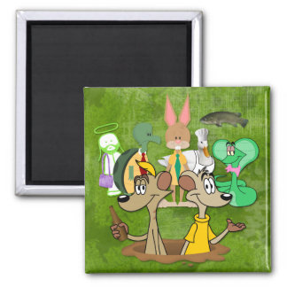 FARToons Productions Square Magnet