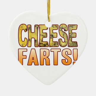 Farts Blue Cheese Ceramic Heart Decoration