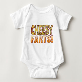 Farts Blue Cheesy Baby Bodysuit