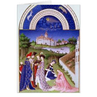 Fascimile of April' Card