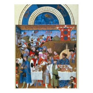 Fascimile of January: banquet scene Postcard